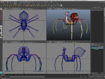 3D rig for animated Spider Queen