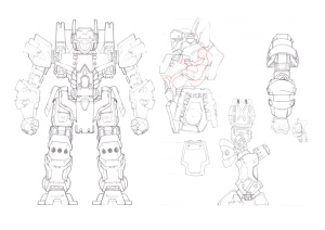 First-stage plans for a six metre tall mecha.