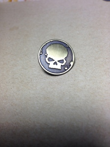 Highly sought-after Elite symbol promotional pin (20mm diameter), designed from a B+W icon image and manufactured in Chatswood, NSW.
