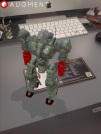 An Augmented reality model with it's marker on my desk!